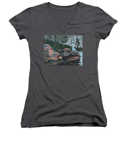 Canoe Lake Light Women's V-Neck T-Shirt