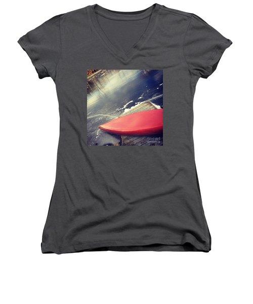 Canoe Say Winter Is Here Women's V-Neck T-Shirt