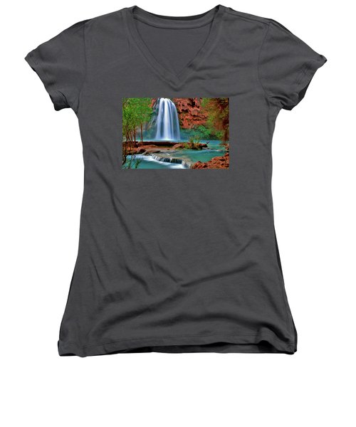 Canyon Falls Women's V-Neck T-Shirt
