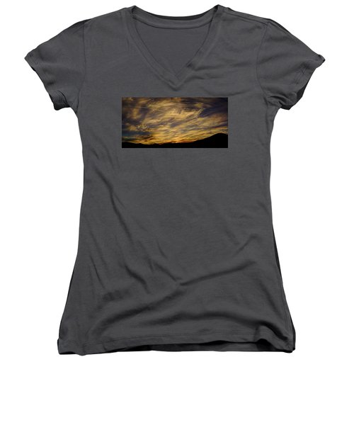 Canyon Hills Sunset Women's V-Neck (Athletic Fit)