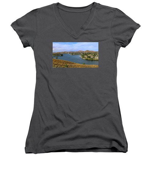 Canyon Lake Panorama Women's V-Neck T-Shirt