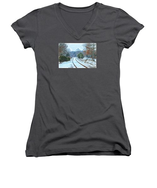 Cape Cod Rail And Trail Women's V-Neck T-Shirt