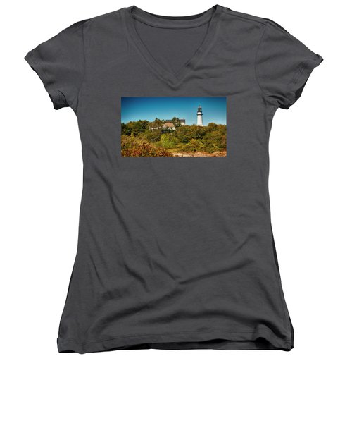 Cape Elizabeth Lighthouse Women's V-Neck