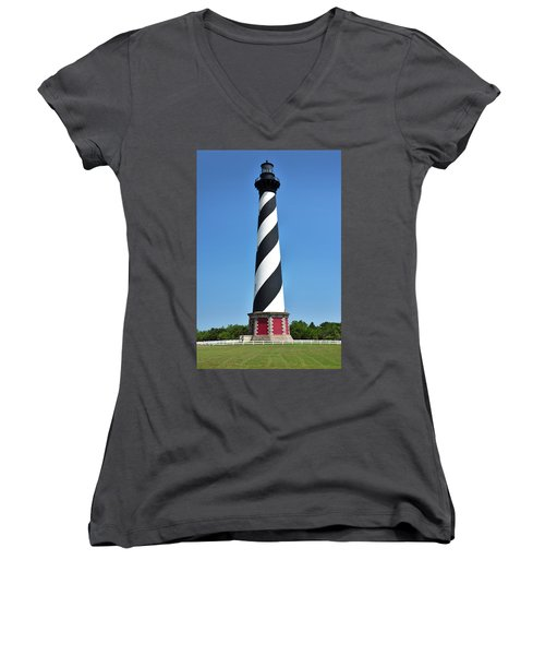 Cape Hatteras Light Women's V-Neck (Athletic Fit)