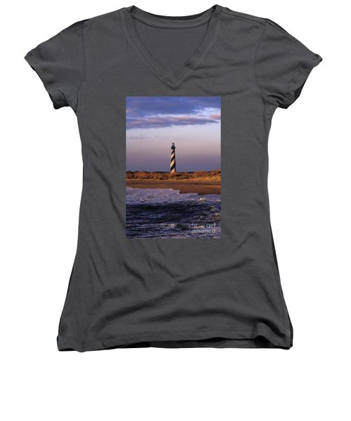 Cape Hatteras Lighthouse At Sunrise - Fs000606 Women's V-Neck (Athletic Fit)