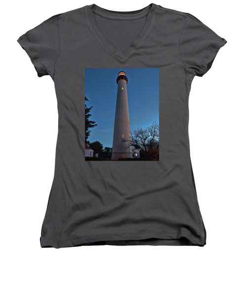 Cape May Lighthouse In Evening Women's V-Neck