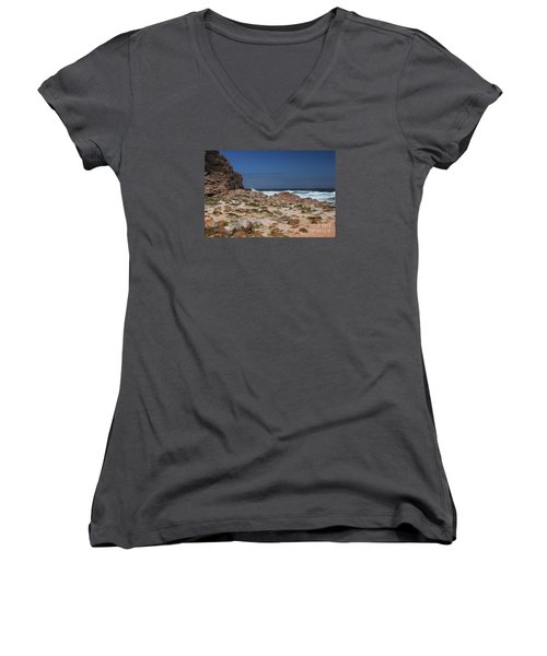 Women's V-Neck T-Shirt (Junior Cut) featuring the photograph Cape Of Good Hope by Bev Conover