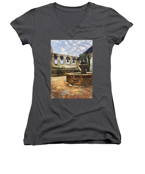 Capistrano Fountain Women's V-Neck T-Shirt