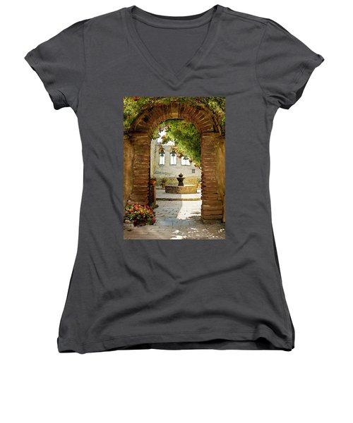 Capistrano Gate Women's V-Neck T-Shirt