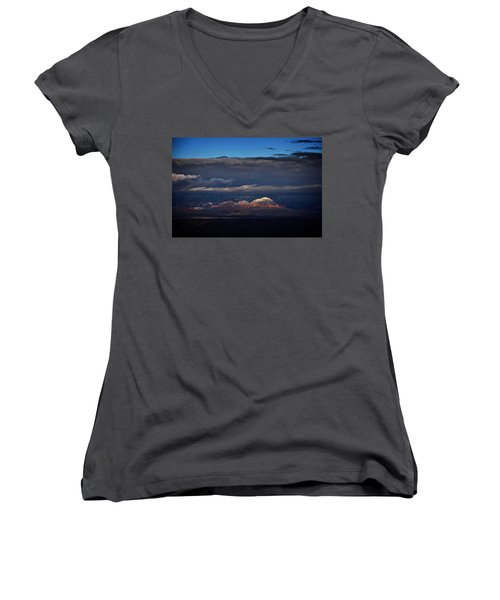Capitol Butte In Sedona With Snow Women's V-Neck
