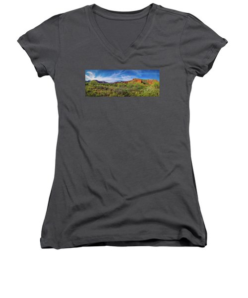 Caprock Canyon Panorama 2 Women's V-Neck