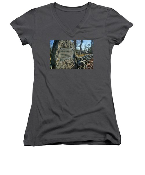 Captain John Locke Monument  Women's V-Neck