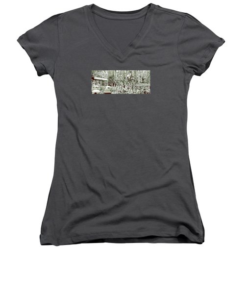 Capture On Endor Women's V-Neck (Athletic Fit)