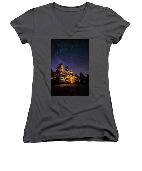 Car Camping Women's V-Neck