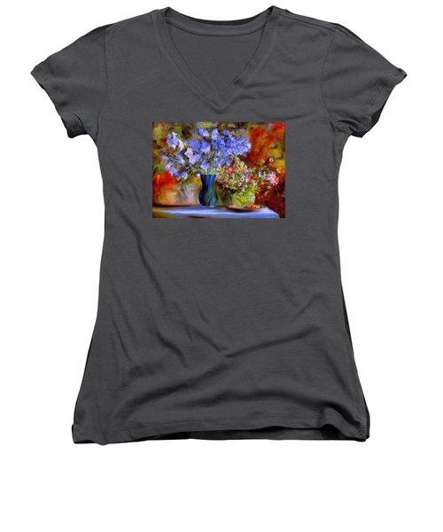 Caress Of Spring - Impressionism Women's V-Neck