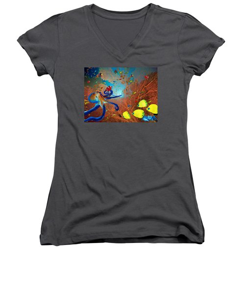 Caribbean Coral Reef Women's V-Neck
