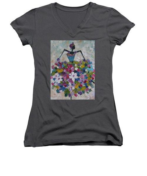 Caribbean Dancer Women's V-Neck T-Shirt