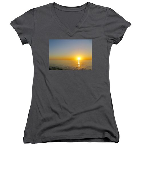 Caribbean Sunset Women's V-Neck T-Shirt