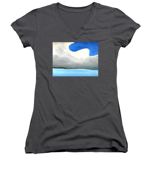 Caribbean Trade Winds Women's V-Neck T-Shirt (Junior Cut) by Dick Sauer