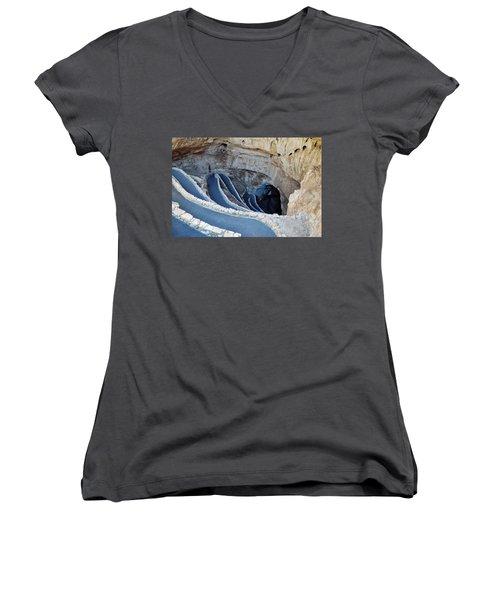 Carlsbad Caverns Natural Entrance Women's V-Neck T-Shirt