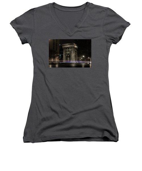 Carnegie Monument Women's V-Neck