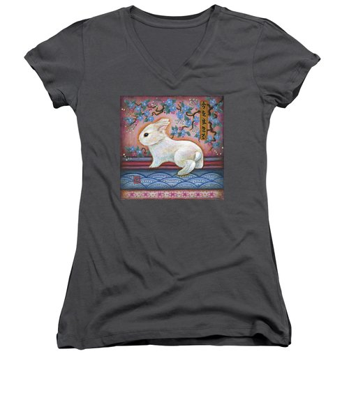 Carpe Diem Rabbit Women's V-Neck
