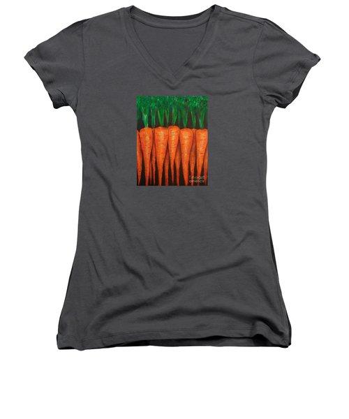 Carrots Women's V-Neck T-Shirt