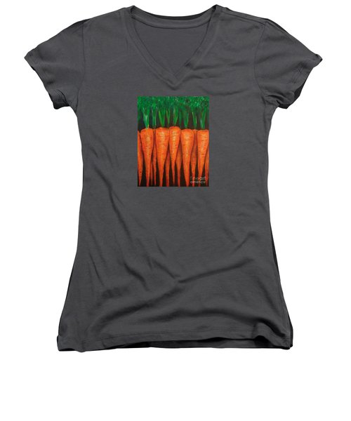 Carrots Women's V-Neck (Athletic Fit)