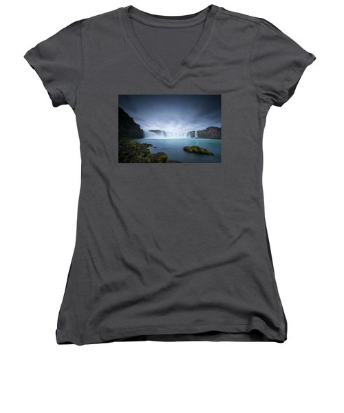 Cascade Of The Gods Women's V-Neck (Athletic Fit)