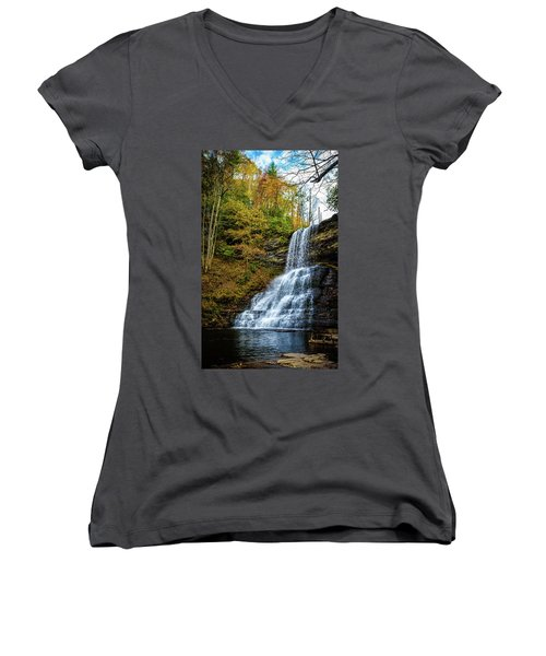 Cascades Lower Falls Women's V-Neck (Athletic Fit)