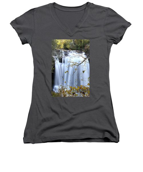 Cascading Water Fall Women's V-Neck (Athletic Fit)
