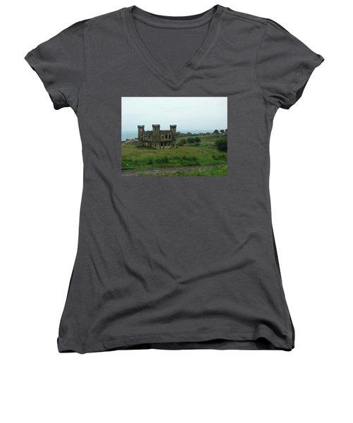 Castle Catania Sicily Women's V-Neck T-Shirt