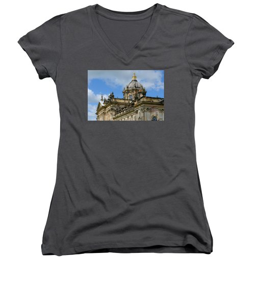 Castle Howard Roofline Women's V-Neck T-Shirt