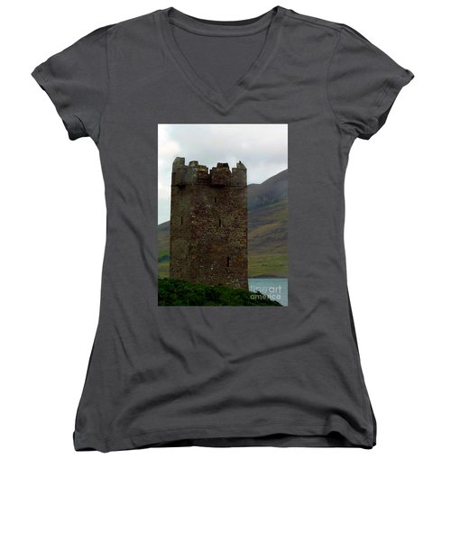 Castle Of The Pirate Queen Women's V-Neck