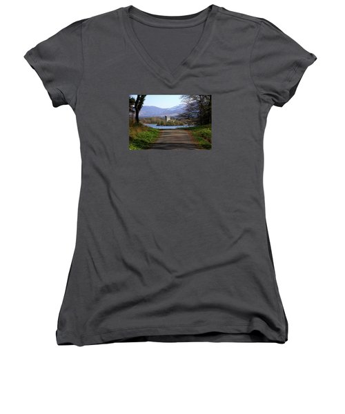 Castle On The Lakes Women's V-Neck (Athletic Fit)