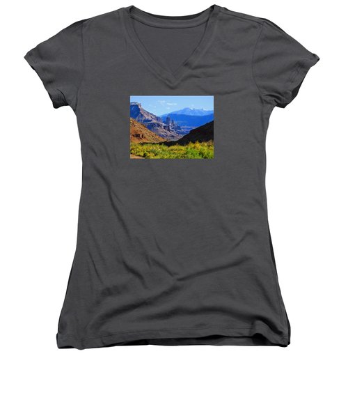 Castle Valley Women's V-Neck T-Shirt (Junior Cut)