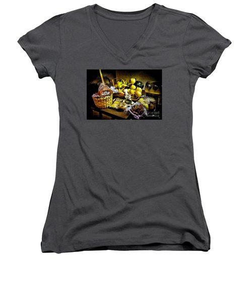 Casual Affluence Women's V-Neck T-Shirt (Junior Cut) by Tom Cameron