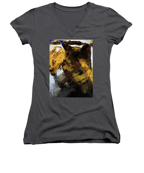 Cat Sleep Shadow Women's V-Neck (Athletic Fit)