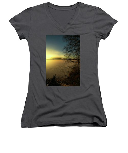 Catch The Light Women's V-Neck T-Shirt (Junior Cut) by Rose-Marie Karlsen