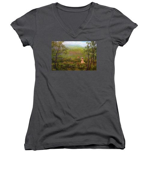 Catching Butterflys Women's V-Neck (Athletic Fit)