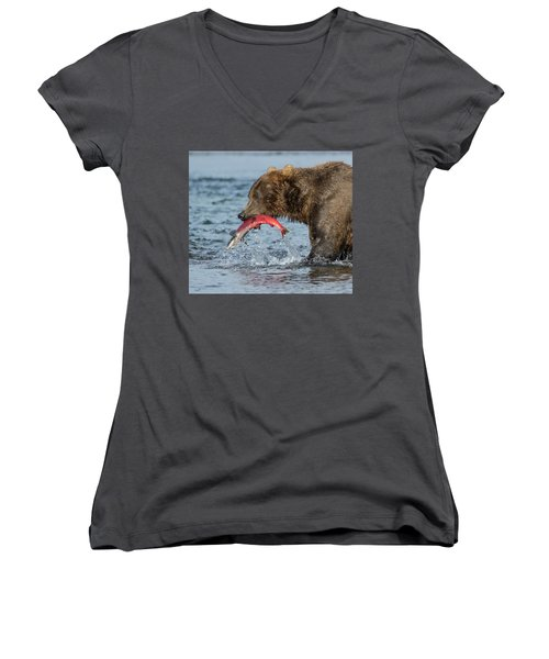 Catching The Prize Women's V-Neck