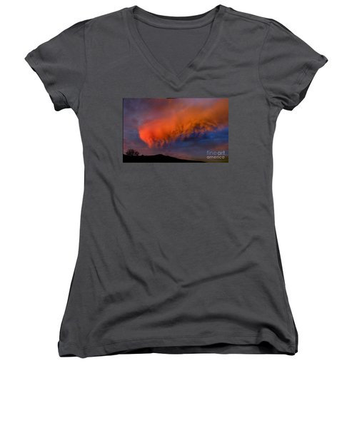 Caterpillar Cloud In The Sky Women's V-Neck (Athletic Fit)