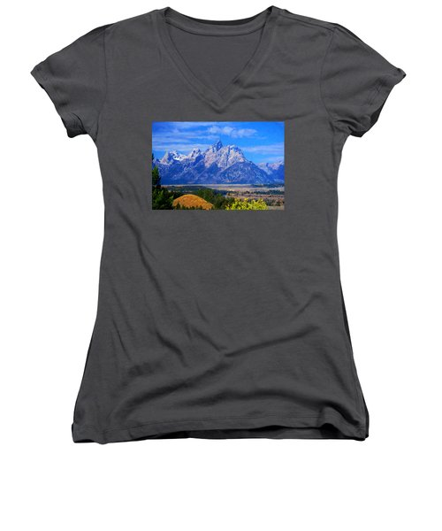 Cathedral Group Impressions Women's V-Neck T-Shirt (Junior Cut) by Greg Norrell