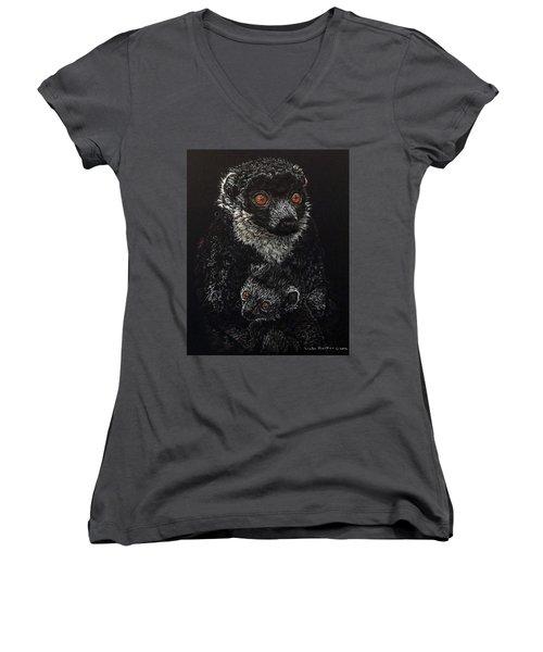 Catherina And Baby Abby Women's V-Neck T-Shirt