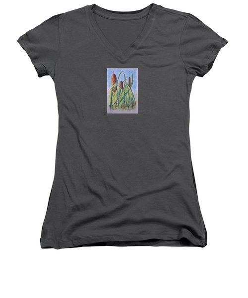 Cattails #5 Women's V-Neck (Athletic Fit)