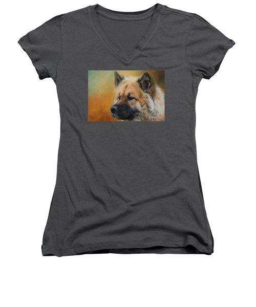 Caucasian Shepherd Dog Women's V-Neck T-Shirt