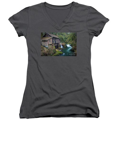 Cedar Grist Mill Women's V-Neck (Athletic Fit)