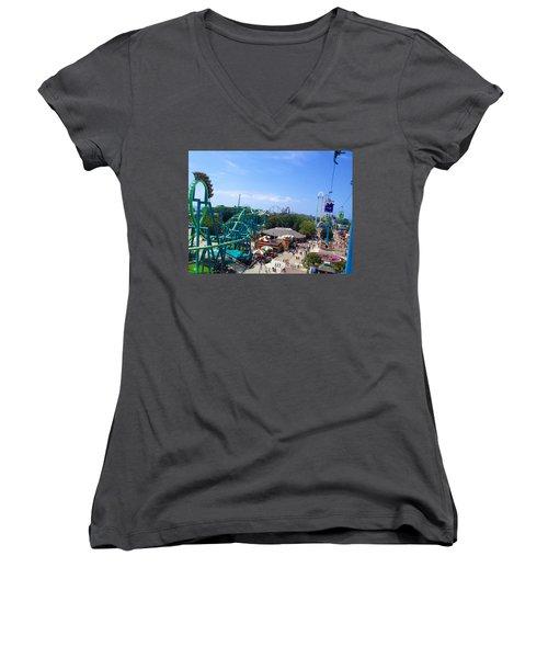 Cedar Point Amusement Park Women's V-Neck (Athletic Fit)