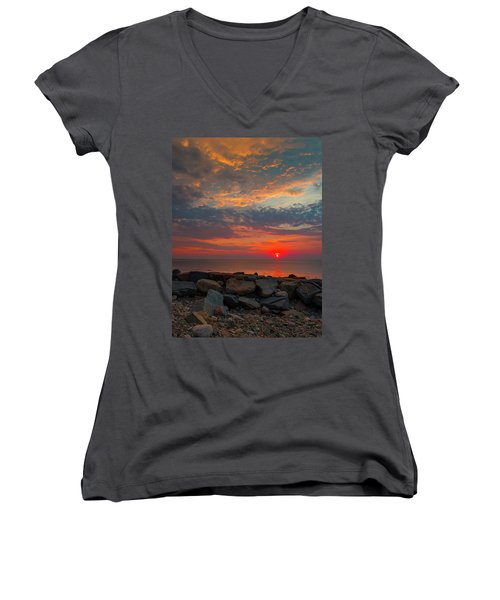 Cedar Point Sunrise Women's V-Neck (Athletic Fit)