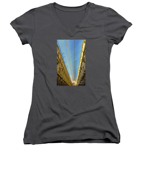 Women's V-Neck T-Shirt (Junior Cut) featuring the photograph Ceiling  by Pravine Chester